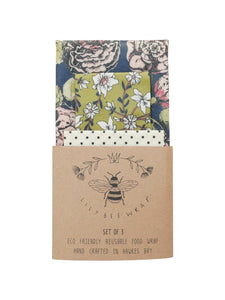 Lily Bee Wrap - Set of 3 - Mandy's Garden