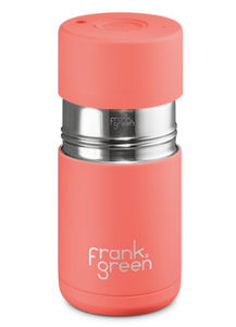 Frank Green Ceramic Reusable Cup 295ml - Living Coral
