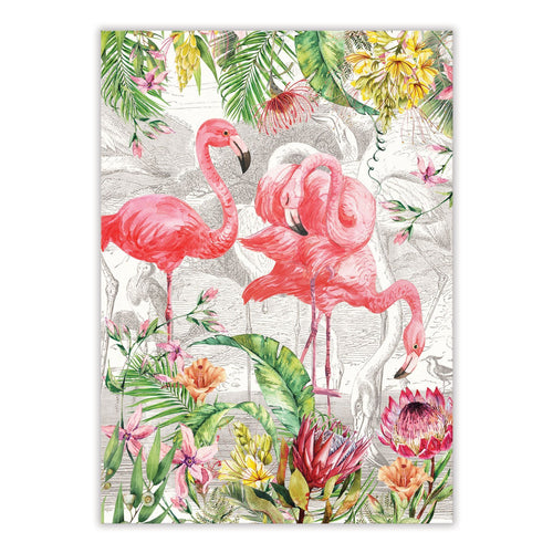 Michel Design Works Flamingo Tea Towel