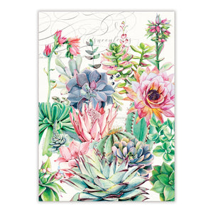 Michel Design Works Pink Cactus Tea Towel