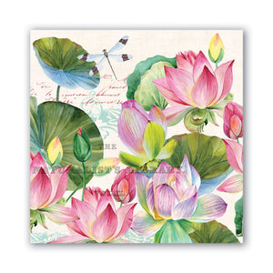 Michel Design Works Water Lilies Luncheon Napkins