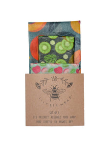 Lily Bee Wrap - Set of 3 - Fruit Bowl