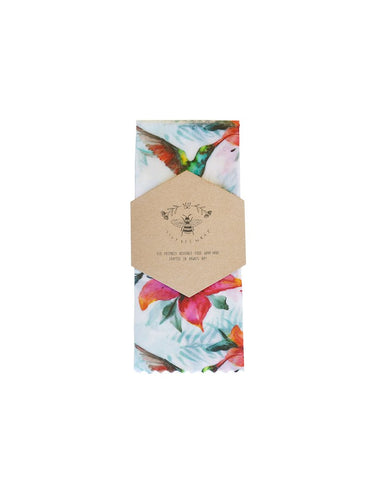 Lily Bee Wrap - Medium Single - Rainbow Hummingbird