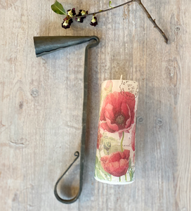 Hand Forged Candle Snuffer and Toujours Paris Decoupage Candle