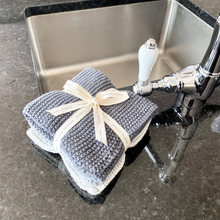 Lavette Grey Washcloths - set of three
