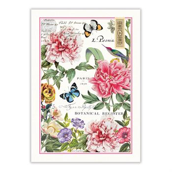 Michel Design Works Peony Tea Towel