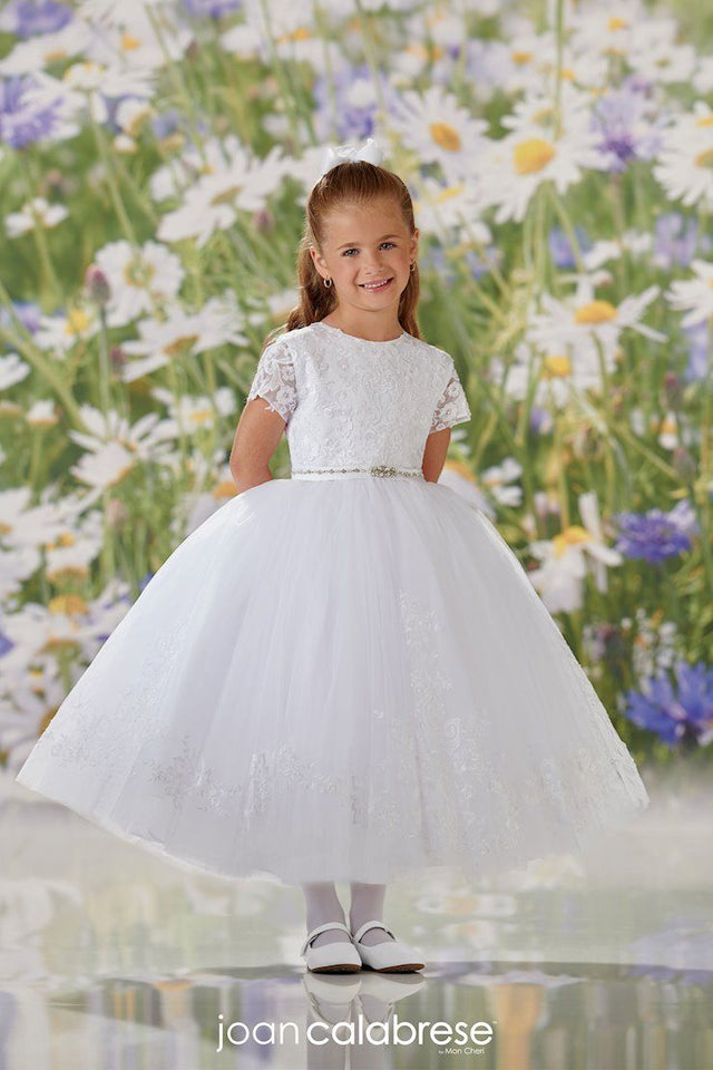 First Holy Communion dress with lace bodice.