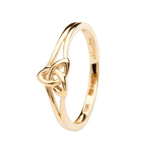 10K Yellow Gold Trinity Ring