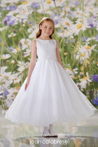 Sleeveless Sequin Corded Lace and Tulle Communion Dress