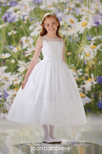 Sleeveless Lace and Tulle Flower Girl Communion Dress