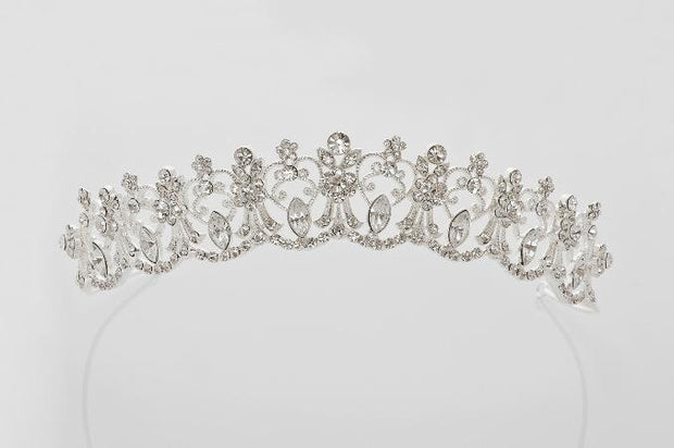 Anja White Holy Communion Tiara Veil