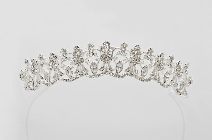 Anja Diamond White First Holy Communion Tiara Veil