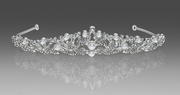 Anja Crystal Communion Veil with Pearl