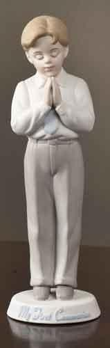 Boy Communion Figurine