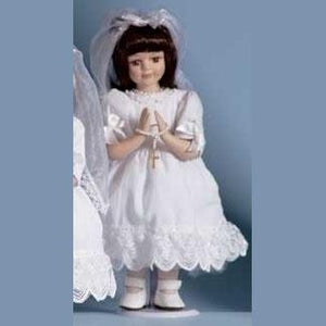 Communion Doll Brown Hair.