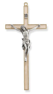 Pearlized Crucifix Pewter Corpus