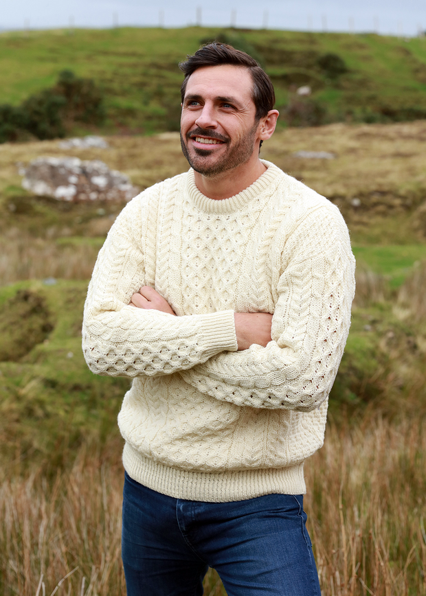 Irish Aran Knit Sweater Crewneck