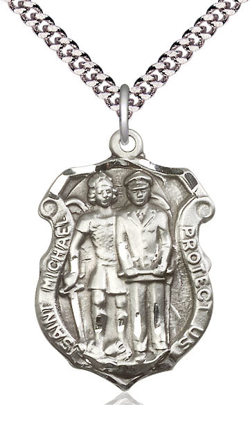 Saint Michael Police Shield Medal