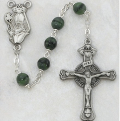 7-MM Green St. Patrick Rosary Beads