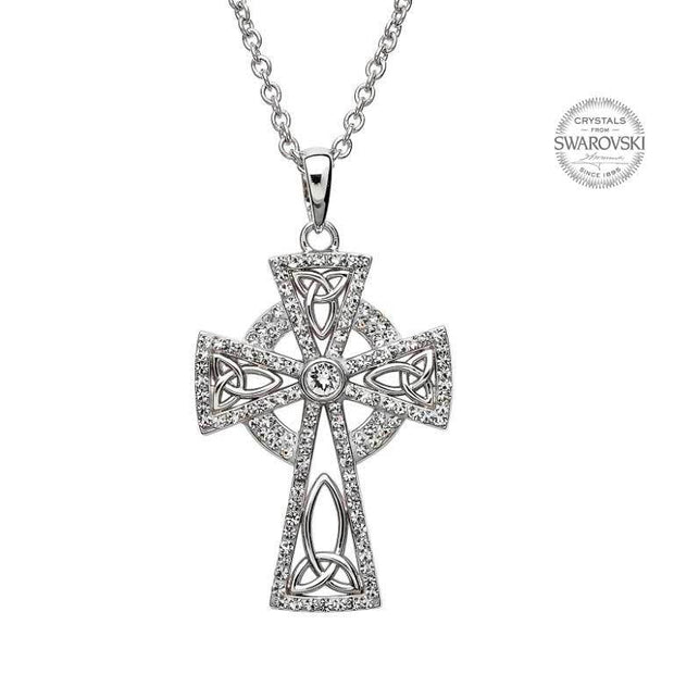 Swarovski Crystal Celtic Cross Pendant by Shanore