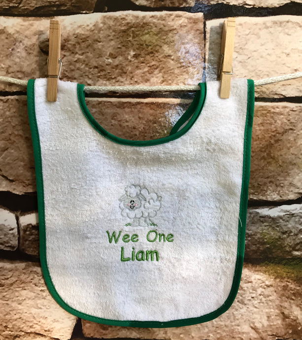 Personalized Sheep Cotton Bib