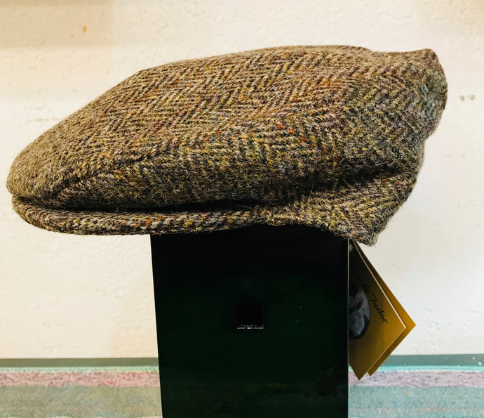 Harris Tweed Vintage Cap Brown Herringbone by Hanna Hats
