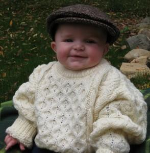 Irish Crew Neck Sweater for Kids