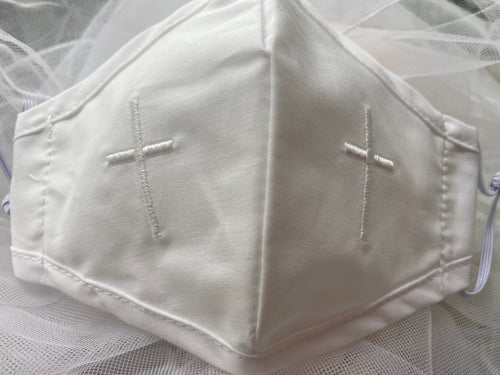 First Holy Communion Embroidered Cross Mask #8