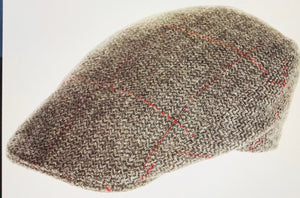9822 Harris Tweed Brown Herringbone Touring Cap by Hanna Hat