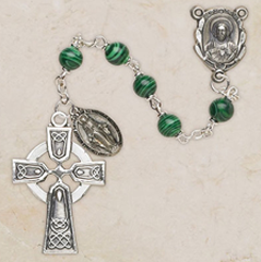 Faux-Malachite-Rosary