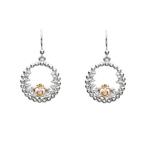 Princess Round Earrings