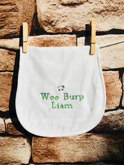 Personalized Embroidered Wee One Burp Pad