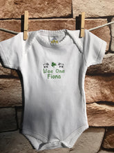 Load image into Gallery viewer, Personalized Embroidered Irish Baby Onesie