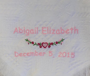 Personalized Embroidered Blanket
