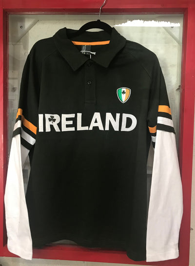 Long Sleeve Ireland Rugby Style Shirt