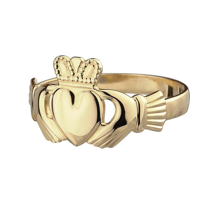Ladies 10K Gold Claddagh Ring Solvar