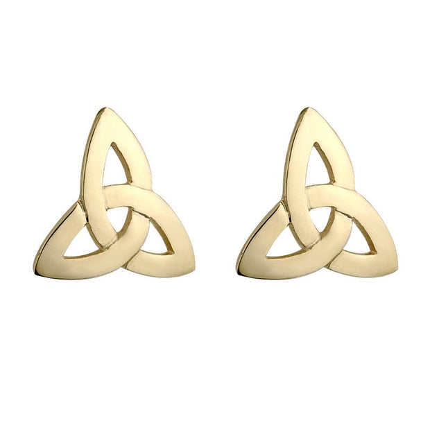 10K Gold Trinity Knot Stud Earrings by Solvar