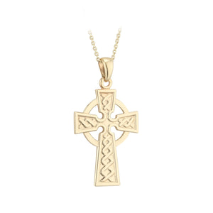 10K Gold Celtic Cross Solvar Jewelry