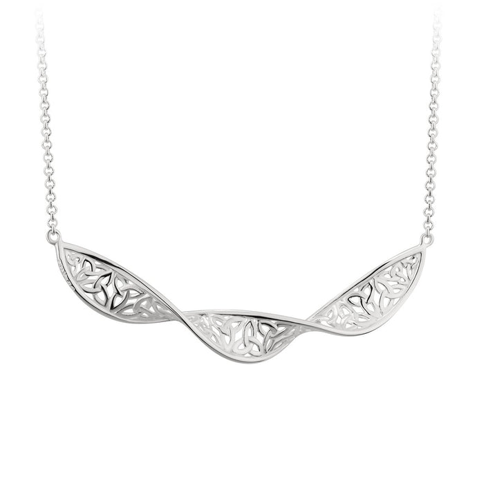 Sterling Silver Trinity Know Twist Necklet Solvar