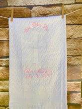 Load image into Gallery viewer, Personalized Embroidered Baptismal/Birth Blanket Cross