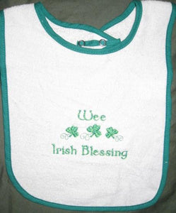 Irish Blessing Snap Terry Bib