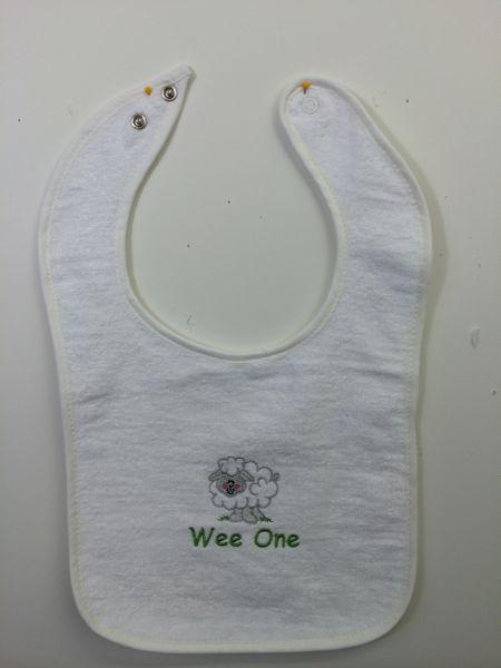 Sheep Snap Terry Bib
