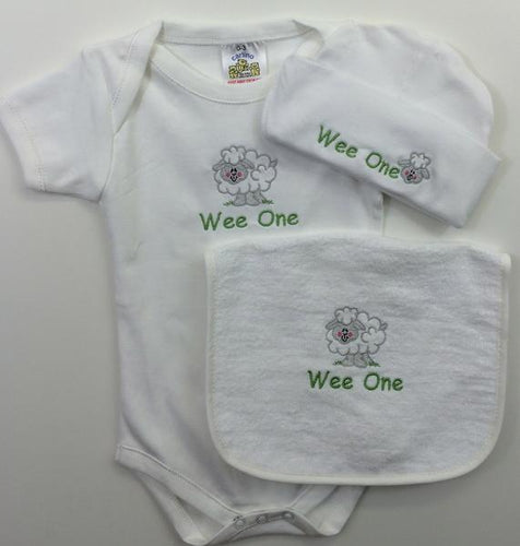 Sheep Embroidered set Wee Irish Baby