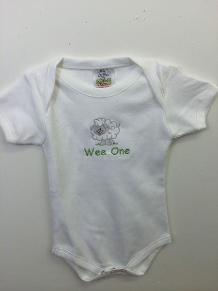 Sheep Onesie Embroidered Wee Irish Baby