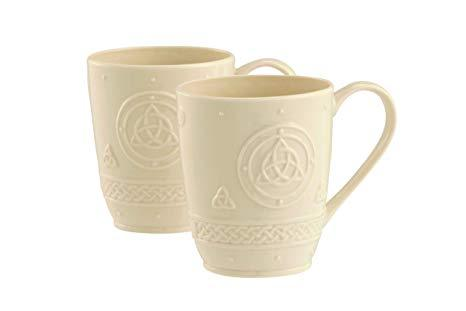 Belleek China Trinity Mugs Pair