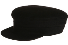 Load image into Gallery viewer, Skipper Cap Black by Hanna Hats
