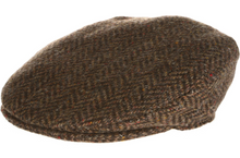 Load image into Gallery viewer, Vintage Flat Cap Herringbone by Hanna Hats