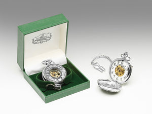 Mullingar Pewter Mechanical Pocket Watch Claddagh/Ireland Design