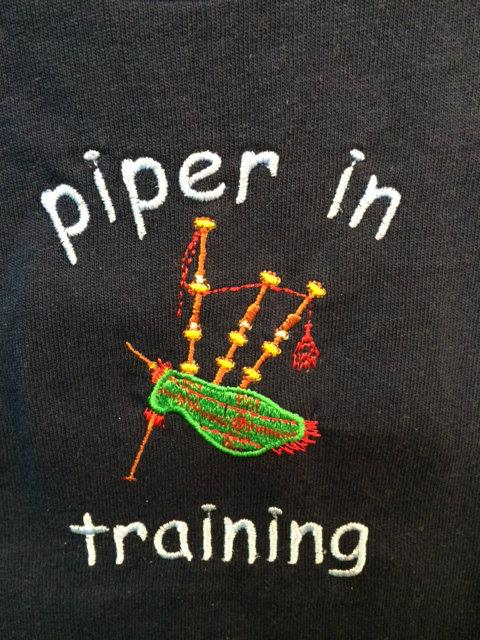 Piper in Training Navy Tee Shirt