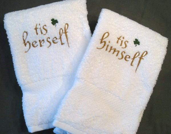 tis himself or Tis Herself hand towels